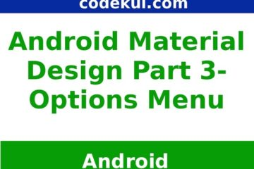 Android Material Design Menu - Options Menu Archives - Online